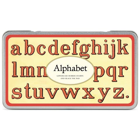 Lowercase Alphabet Rubber Stamp Set