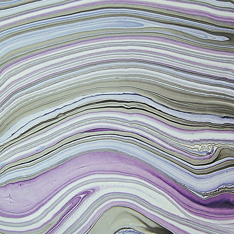 Thai Marbled Paper - Smokey Tanzanite
