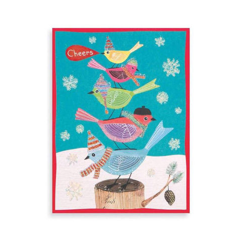 Avian Holiday Glitter Boxed Card