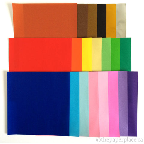 15cm Mixed Solid Colour Origami - 80 Sheets