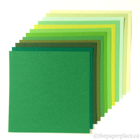 15cm Tant Greens Origami - 48 Sheets