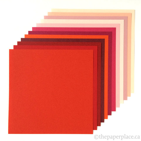 15cm Tant Reds Origami - 48 Sheets