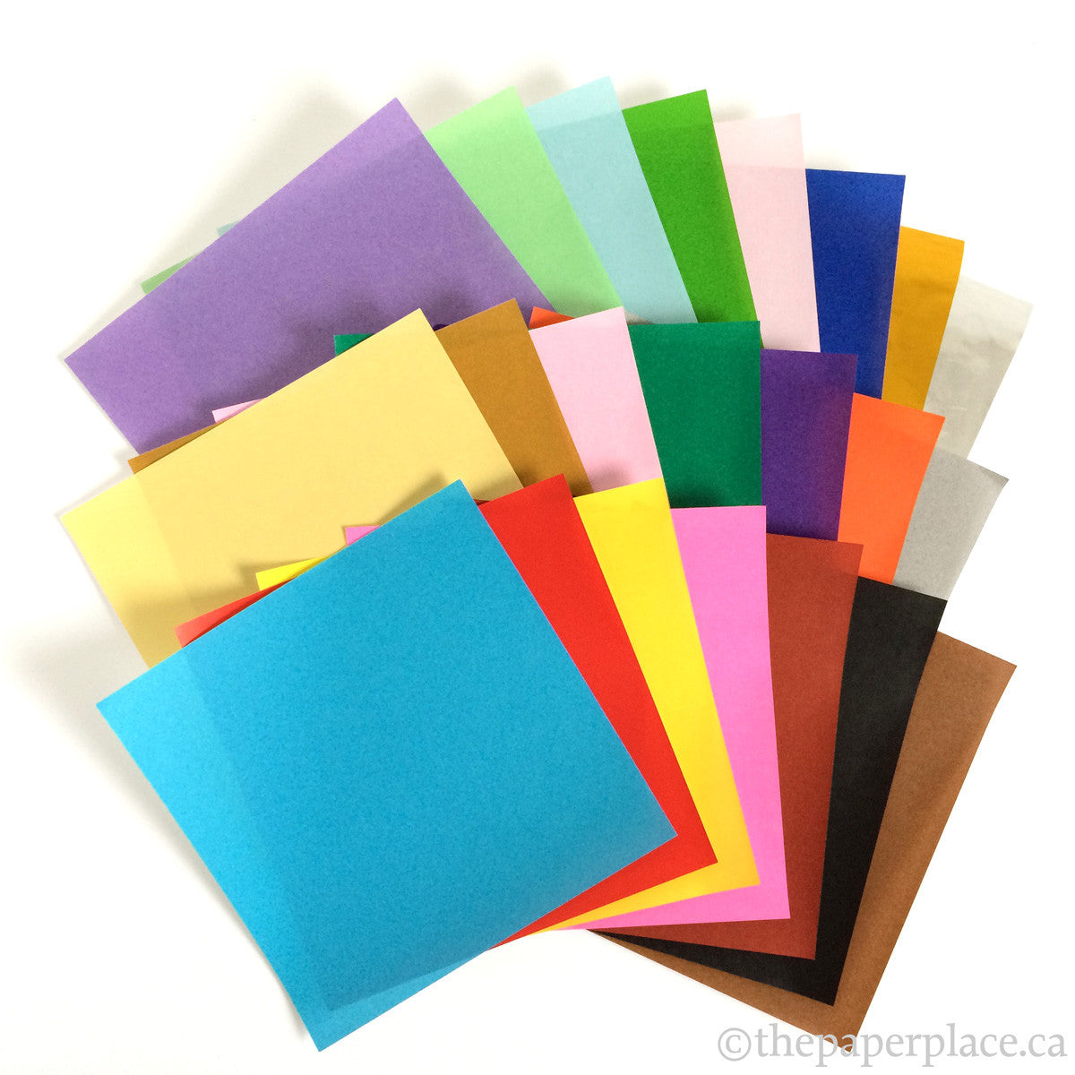 15cm Mixed Solid Colour Origami - 500 Sheets