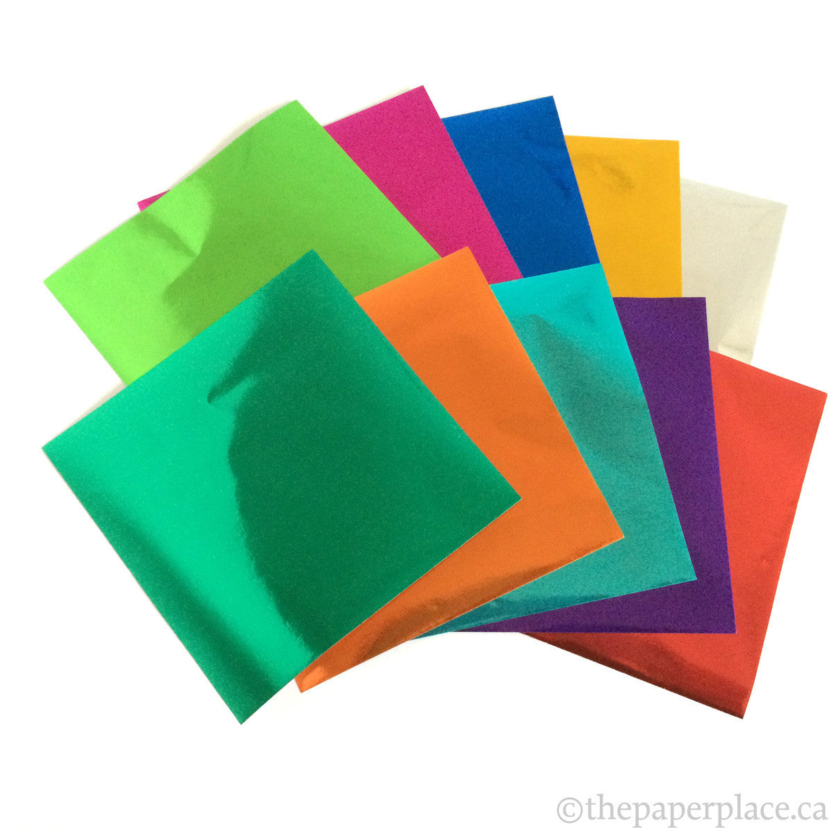 10cm Mixed Solid Colour Foil Origami - 24 Sheets