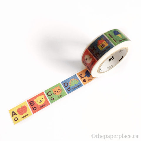 Alphabet A-M Washi Tape - 15mm