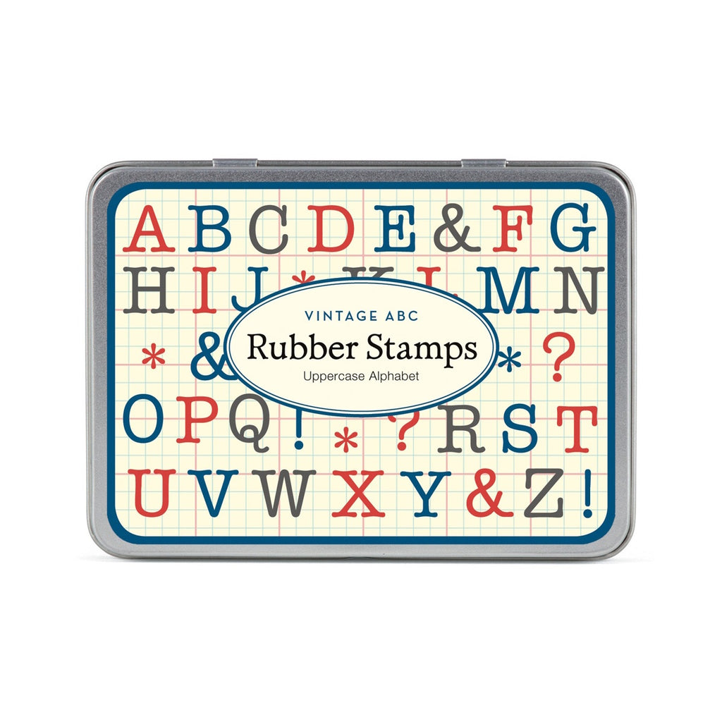 Vintage Alphabet Uppercase Rubber Stamp Set