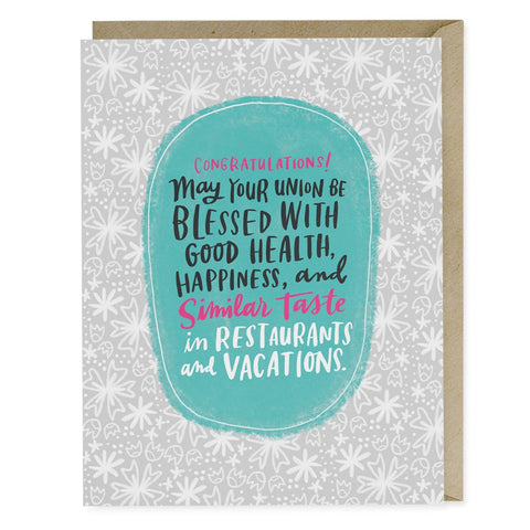 Restaurants & Vacations Wedding Single Card