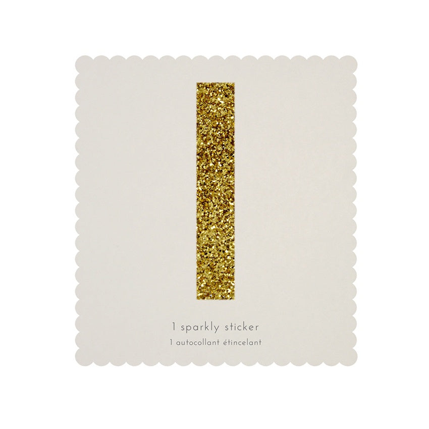 Gold Glitter Sticker - I