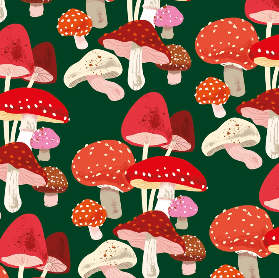 Christmas Mushrooms Gift Wrap Sheet