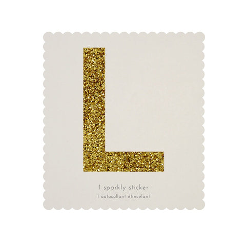Gold Glitter Sticker - L