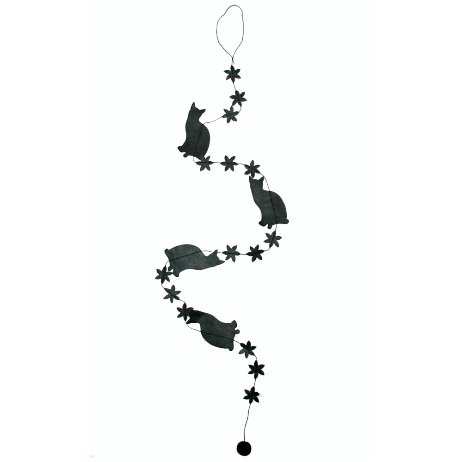 Mini Cat Garland - Black