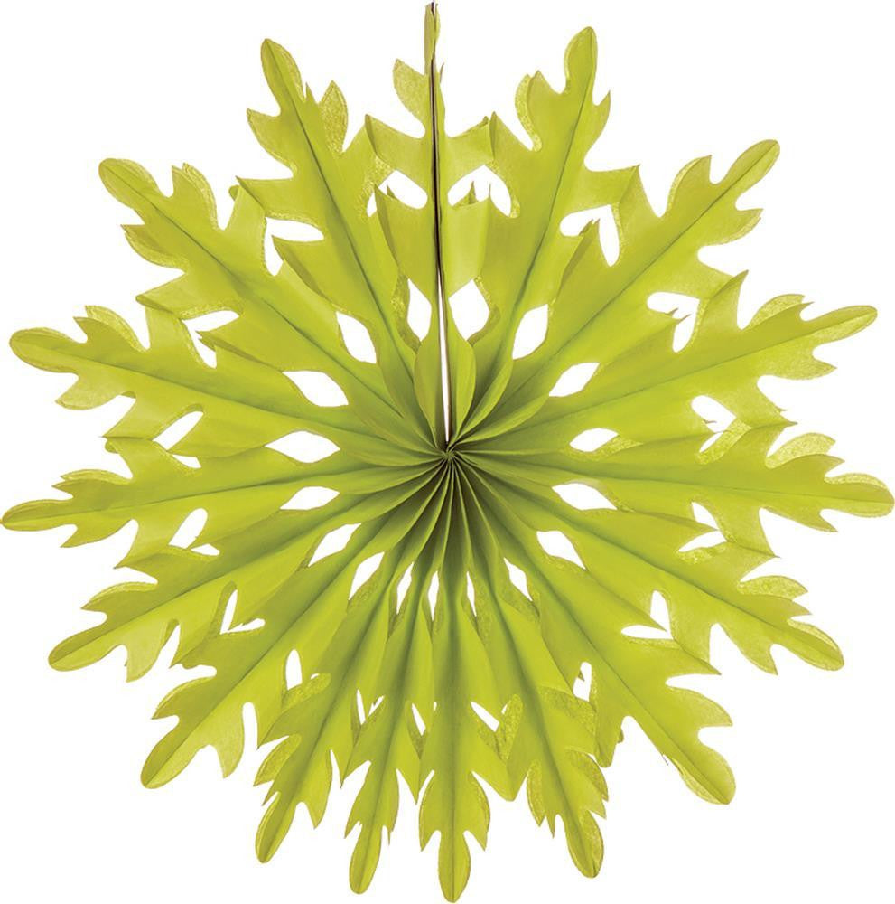 "Chartreuse 14"" Tissue Paper Snowflake"