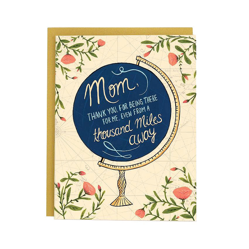 Mom Globe Single Card