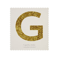 Gold Glitter Sticker - G