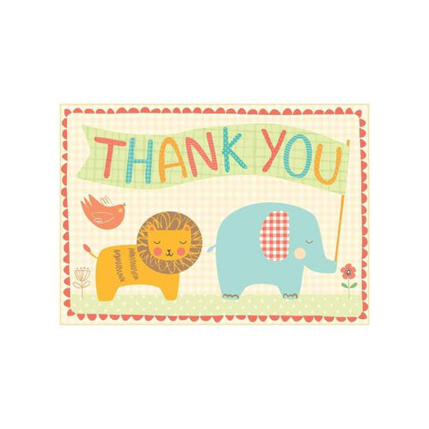 Playtime Animal Thank You Boxed Cards