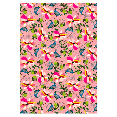Pink Pears Gift Wrap Sheet