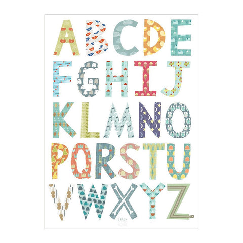 Alphabet Gift  Wrap Sheet