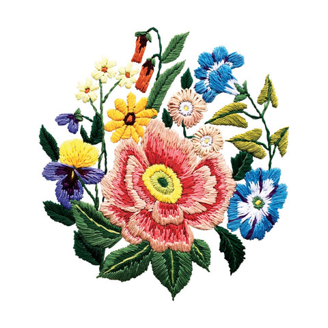 Stitched Bouquet Temporary Tattoo (set of 2)