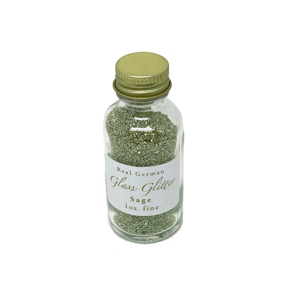 Sage German Glass Glitter - 1oz