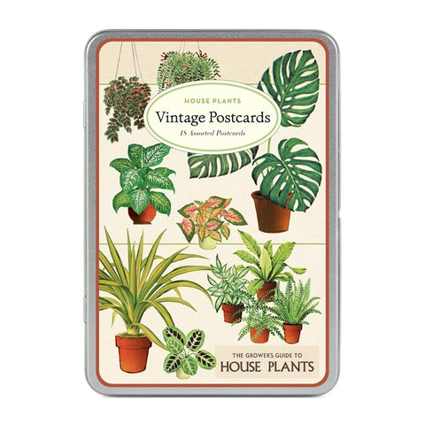 Houseplants Vintage Postcards, set/18