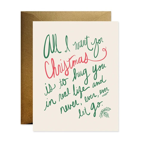 All I Want For Christmas Single Card