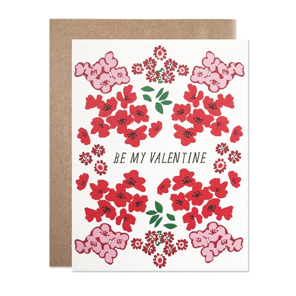 Valentine Red Garden Single Card