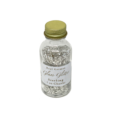 Sterling Chunky German Glass Glitter - 1oz