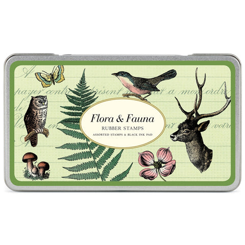 Flora & Fauna Rubber Stamp Set