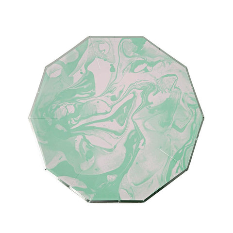 Mint Marble Plates (Large)