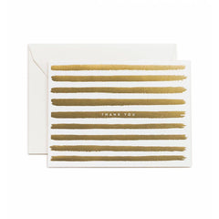 Gold Stripes Thank You Boxed Cards