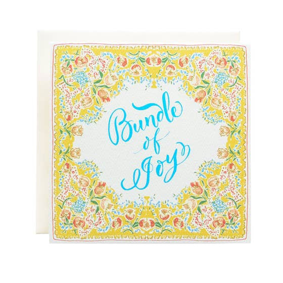 Handkerchief Bundle of Joy Single Card