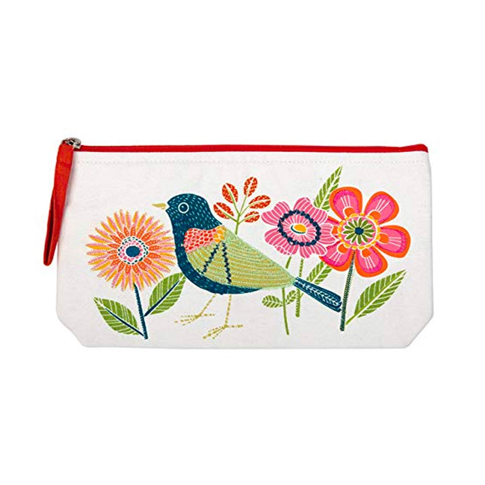 Avian Friends Embroidered Carry All Pouch