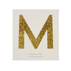 Gold Glitter Sticker - M