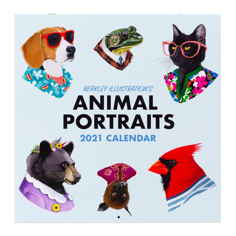 2021 Berkley Illustration Animal Portraits Wall Calendar