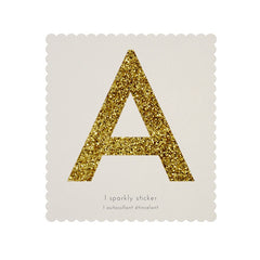Gold Glitter Sticker - A
