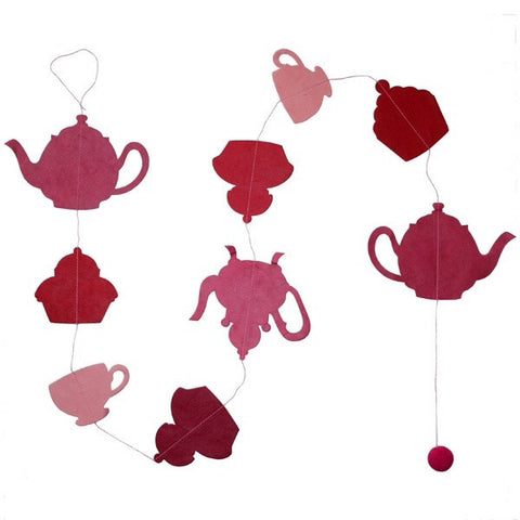 Tea Party Garland - Fuchsia