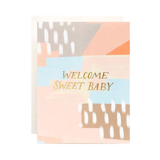Abstract Baby Single Card