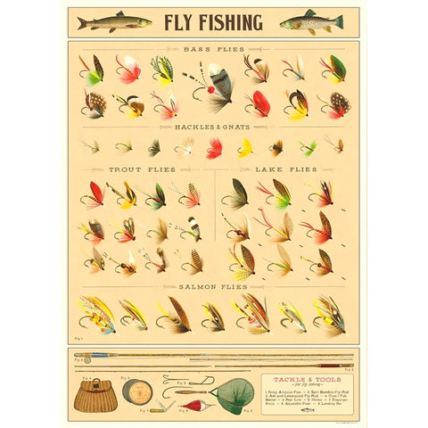 Fly Fishing Poster Wrap