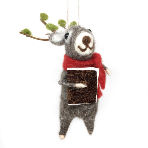 Caroling Reindeer Ornament - Book