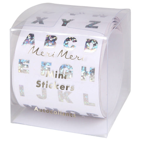 Silver Foil Alphabet Sticker Roll