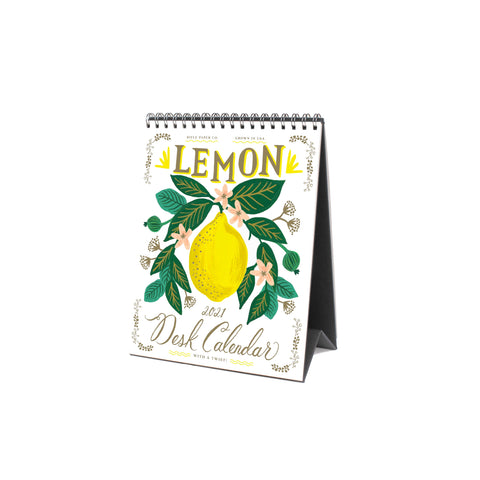 2021 Lemon Desk Calendar