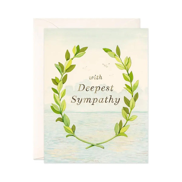 With Deepest Sympathy Laurel Single Card