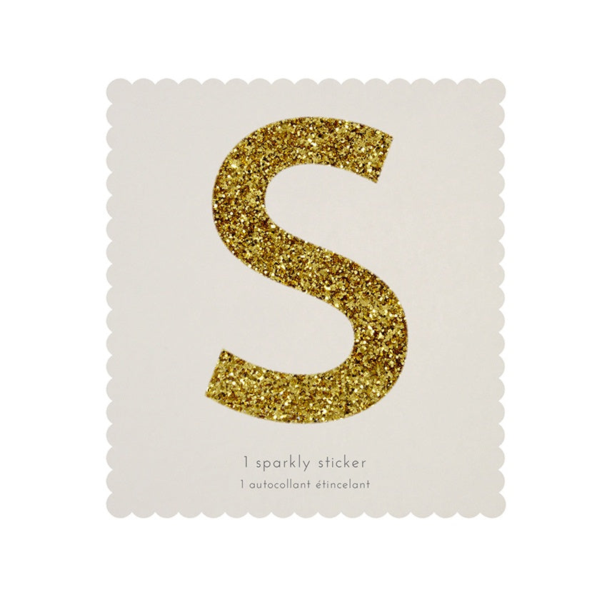 Gold Glitter Sticker - S