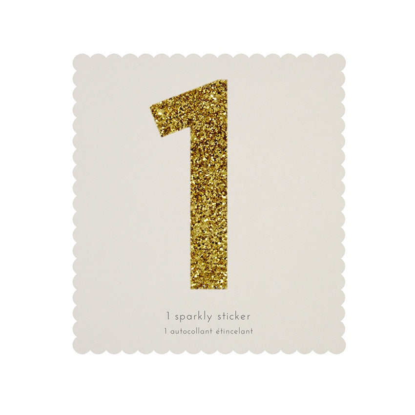 Gold Glitter Sticker - 1