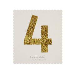 Gold Glitter Sticker - 4