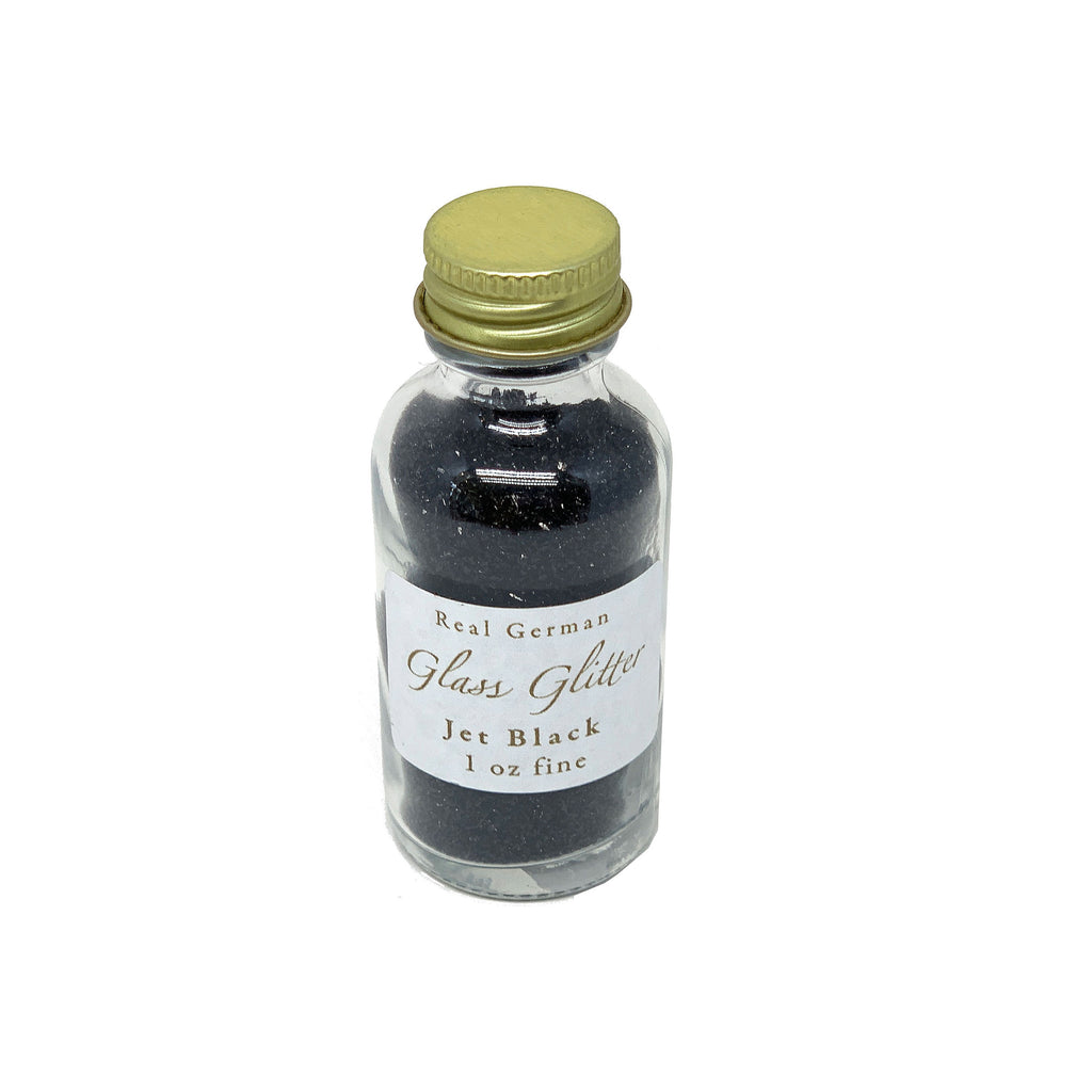 Jet Black German Glass Glitter - 1oz
