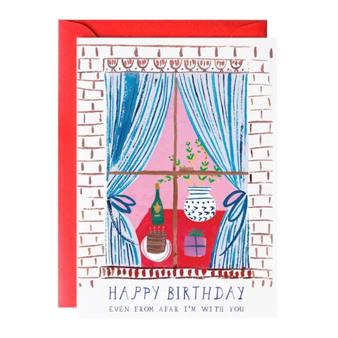 Window Party Birthday Single Card