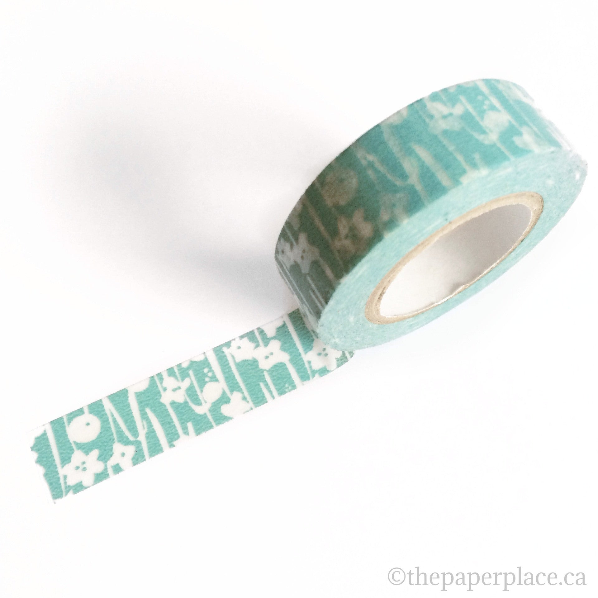 Blue Small Flower Washi Tape - 15mm
