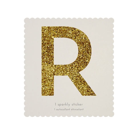 Gold Glitter Sticker - R