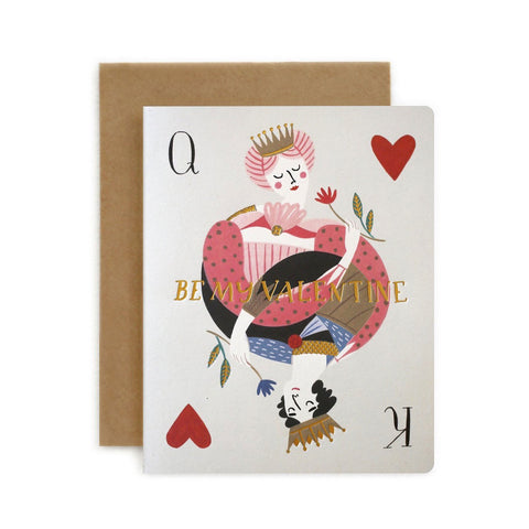 Be My Valentine Playing Card Single Card